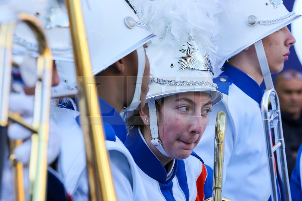 © Licensed to London News Pictures. 30/12/2019. London, UK. A performer from West Orange High School at the preview of the London New Year's Day Parade inCovent Garden Piazza.<br /> The London New Years Day Parade, in its 32nd year will take place on 1 January 2020 and will feature more than 10,000 performers from across the world. Photo credit: Dinendra Haria/LNP