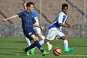 08.04.17; Zuerich; Fussball FCZ Academy - Grasshopper Club - Zuerich FE14 Oberland; <br /> Membrino Nunez Alessandro (Zuerich) Khalo Gamel (GC) <br /> (Andy Mueller/freshfocus)