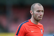York City midfielder Russell Penn  during the Sky Bet League 2 match between York City and Morecambe at Bootham Crescent, York, England on 19 December 2015. Photo by Simon Davies.