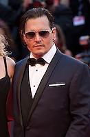 Johnny Depp and Amber Heard at the gala screening for the film Black Mass at the 72nd Venice Film Festival, Friday September 4th 2015, Venice Lido, Italy.