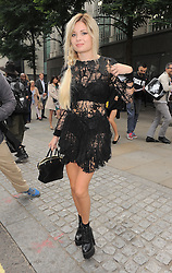 Nina Nesbitt attends the Julien Macdonald SS 2015 catwalk show during London Fashion Week Spring Summer 2015 in London, UK. 13/09/2014 <br />
