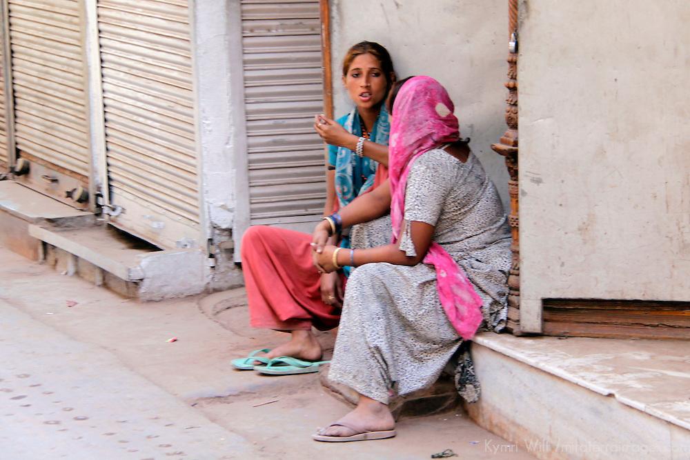 Asia, India, New Delhi. Scene of life in Old Delhi.