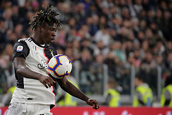 May 19, 2019 - Turin, Turin, Italy - Moise Kean #18 of Juventus FC in action during the serie A match between Juventus FC and Atalanta BC at Allianz Stadium on May 19, 2019 in Turin, Italy. (Credit Image: © Giuseppe Cottini/NurPhoto via ZUMA Press)