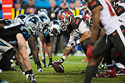 January 3, 2016: Carolina Panthers vs Tampa Bay Buccaneers. Panthers defensive line