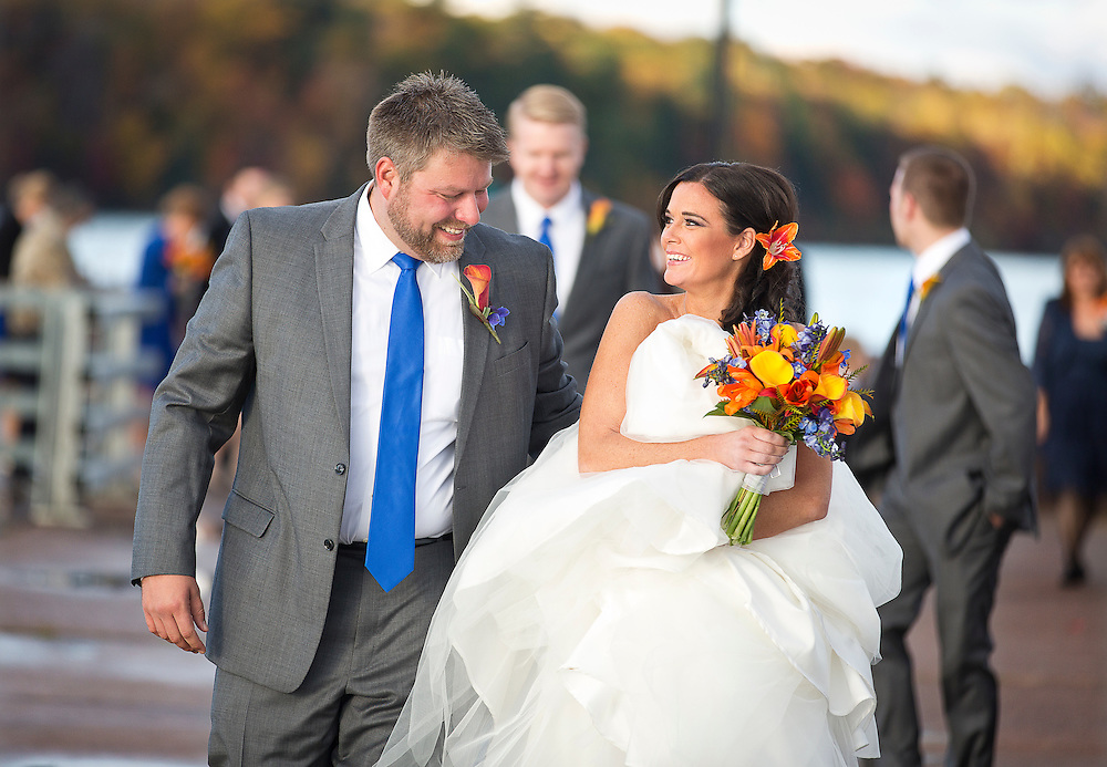Schumm-Hansen wedding in Bayfield, Wisconsin, October 19, 2013.