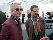 BAZ LUHRMANN; JONATHAN YEO, Opening of Frieze 2009. Regent's Park. London. 14 October 2009 *** Local Caption *** -DO NOT ARCHIVE-© Copyright Photograph by Dafydd Jones. 248 Clapham Rd. London SW9 0PZ. Tel 0207 820 0771. www.dafjones.com.<br /> BAZ LUHRMANN; JONATHAN YEO, Opening of Frieze 2009. Regent's Park. London. 14 October 2009