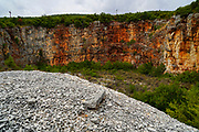 An abandoned stone quarry on the Greek Island of Cephalonia, Ionian Sea, Greece