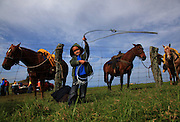 Elijah Tabiolo,4, practices his roping at the Ponoholo Branding in North Kohala, Hawaii.  While mainland children learn to hit a baseball or throw a football at an early age, in the paniolo community, learning to rope and ride is given the highest priority.  Kids practice by roping each other, a calf dummy and even the family dog.