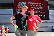 Switzerland fans - Women's World Cup Fans as the tournament comes to Vancouver<br /> <br />  - &copy; David Young - www.davidyoungphoto.co.uk - email: davidyoungphoto@gmail.com