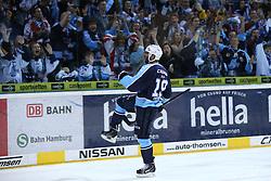 ICE HOCKEY: Germany, 1. DEL , Hamburg, 14.02.2014<br />Philippe Dupuis  (Hamburg Freezers) goal celebration<br />&Acirc;&copy; pixathlon