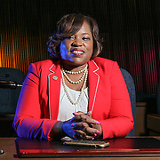 Councilwoman Michelle Harlee of the 4th District pose for a photo in City Council Chambers Friday, July 28, 2017, at Louis L.Redding City County Building in Wilmington, DE.