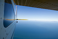 View of the Pacific Horizon from a Cessna