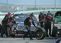 November 16, 2018 - Homestead, FL, USA - Driver Harrison Burton #51 pits during practice of the NASCAR Camping World Truck Series at Homestead-Miami Speedway on Friday, Nov. 16, 2018. (Credit Image: © David Santiago/Miami Herald/TNS via ZUMA Wire)