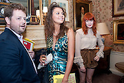 MATTHEW D'ANCONA; OLIVIA COLE; FLORENCE WELCH, Dylan Jones hosts a party for Brett Easton Ellis and his new book.- Imperial Bedrooms. Mark's Club. London. 15 July 2010.  -DO NOT ARCHIVE-© Copyright Photograph by Dafydd Jones. 248 Clapham Rd. London SW9 0PZ. Tel 0207 820 0771. www.dafjones.com.