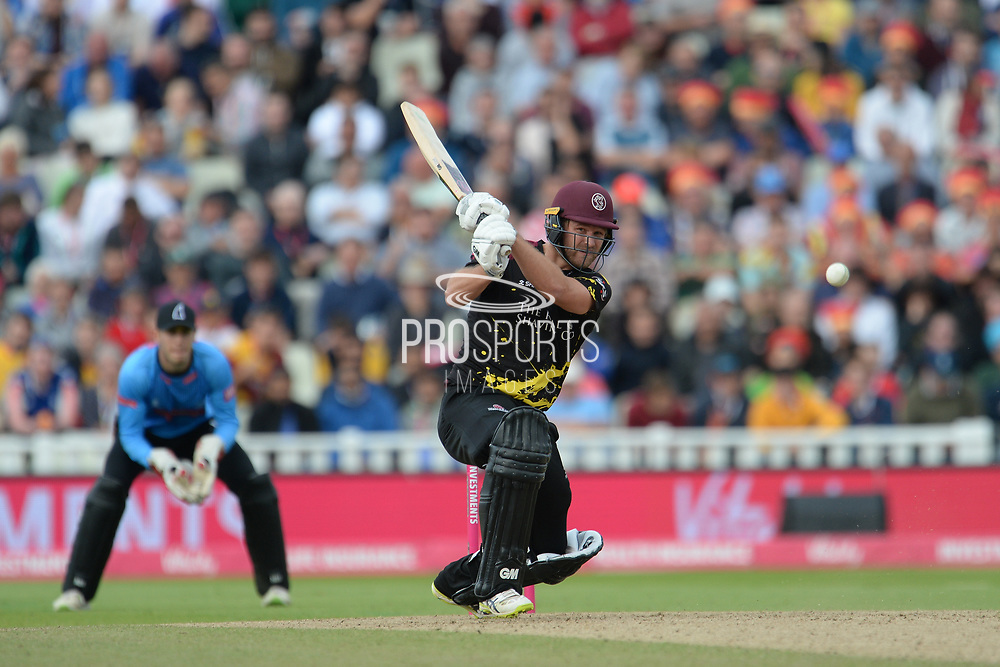 Corey Anderson of Somerset batting during the Vitality T20 Finals Day semi final 2018 match between Sussex Sharks and Somerset County Cricket Club at Edgbaston, Birmingham, United Kingdom on 15 September 2018.