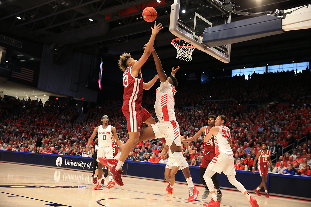Dayton 88-60 win during its home opener against Massachusetts.