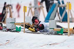 KLUG Clara Guide: HARTL Martin, GER, Short Distance Biathlon, 2015 IPC Nordic and Biathlon World Cup Finals, Surnadal, Norway