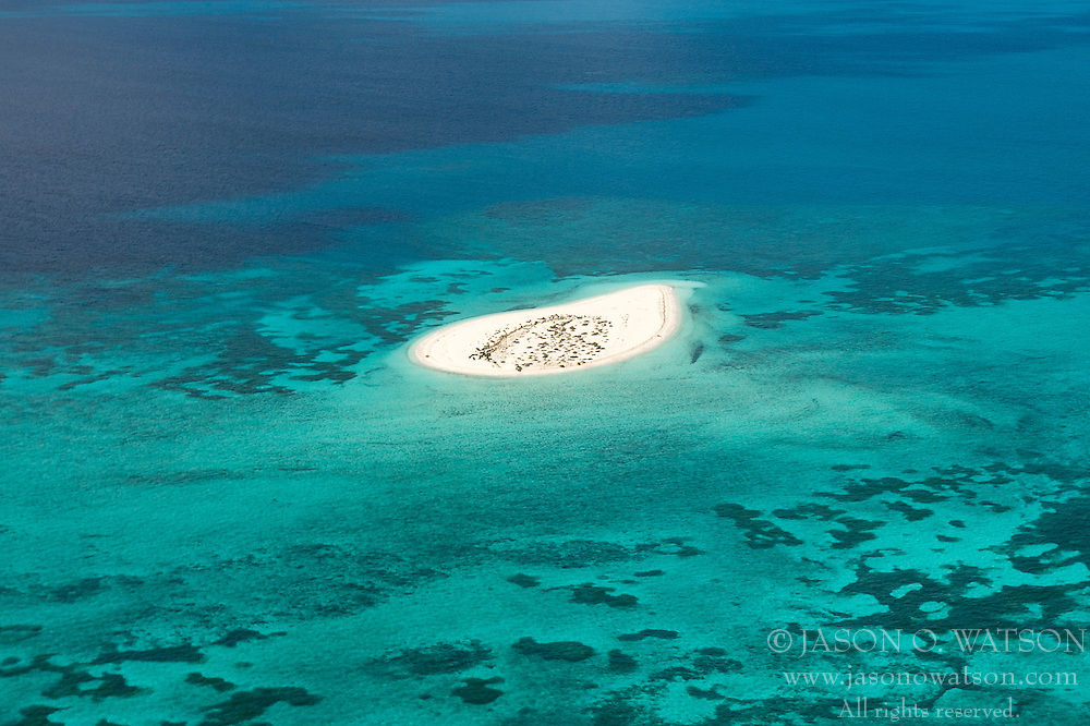 Aerial view of Hospital Key, Dry Tortugas National Park, Florida, United States of America