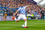 Tommy Smith of Huddersfield Town (2) in action during the Premier League match between Huddersfield Town and Leicester City at the John Smiths Stadium, Huddersfield, England on 6 April 2019.