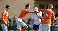 ROTTERDAM -    Valentijn Charbon scored     Practice Match  Hockey : Netherlands Boys U16  v England U16 . COPYRIGHT KOEN SUYK