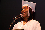 Class secretary Philicia Payne speaks during the Trotwood-Madison High School Commencement at the Victoria Theatre in downtown Dayton, Tuesday, June 1, 2010.