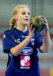 Barbara Varlec of Slovenia at Women European Championships Qualifying handball match between National Teams of Slovenia and Belarus, on October 17, 2009, in Kodeljevo, Ljubljana.  (Photo by Vid Ponikvar / Sportida)