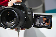 Photokina 2010, World's biggest bi-annual photo fair. Canon EOS 60D sporting a hinged flip-out display ideal for self portraits.