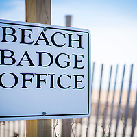 Beach Badge Office Sign in the Beach Haven section of Long Beach Island, New Jersey