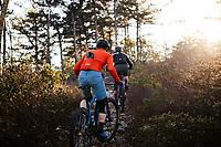 Mountain biking in the Blue Ridge Mountains. Mountain biking man, woman, kids in virgina, north carolina, montana, and california.