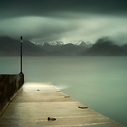 This was taken just as a heavy front of thick cloud began to dominate the sky, bringing fierce wind and driving rain in its wake. Elgol is a fantastic wee harbour and from this point you can catch a boat over to the heart of the Cuillin and Loch Coruisk. Just along from the pier is some of the most photographed coastal rocks in Scotland, understandable given the backdrop of the mighty ridges looming in the distance.