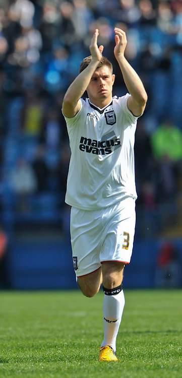Picture by Richard Land/Focus Images Ltd +44 7713 507003.20/04/2013.Aaron Cresswell of Ipswich Town during the npower Championship match at Hillsborough, Sheffield.