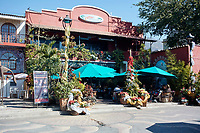 Restaurant scene with Christmas decorations outside Ajijic, Jalisco, Mexico