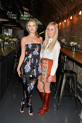 Left to right, DONNA AIR and DIANA VICKERS at a party to launch the Amazon Fashion Photography Studio at 383 Geffrye Street, London E2 on 23rd July 2015.