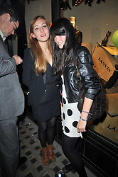 Left to right, ALISA LAMBINA and LOUISA SIEM at the launch party of 'Songs For Sorrow' hosted by Alber Elbaz and Mika held at Lanvin, 32 Savile Row, London on 11th November 2009.