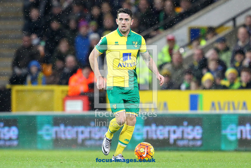 Robbie Brady of Norwich in action during the Barclays Premier League match at Carrow Road, Norwich<br /> Picture by Paul Chesterton/Focus Images Ltd +44 7904 640267<br /> 12/12/2015