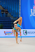 Minagawa Kaho of Japan competes during Individual qualification of ball in the World Cup at Adriatic Arena on April 11, 2015 in Pesaro, Italy. Kaho was born on August 20,1997 in Chiba Prefecture, Japan