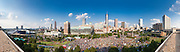 Panorama of Centennial Olympic Park in Atlanta  on July 4th