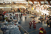 The Amatrice port center used to store food water and to give shelter to the one that did'nt have a place to sleep