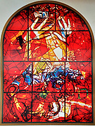 The Tribe of Judah. The Twelve Tribes of Israel depicted in stained glass By Marc Shagall (1887 - 1985). The Twelve Tribes are Reuben, Simeon, Levi, Judah, Issachar, Zebulun, Dan, Gad, Naphtali, Asher, Joseph, and Benjamin.