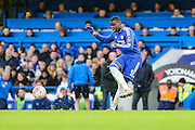 Chelsea's Kurt Zouma during the The FA Cup third round match between Chelsea and Scunthorpe United at Stamford Bridge, London, England on 10 January 2016. Photo by Shane Healey.