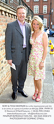 RORY & TESSA BREMNER he is the impressionist and she is an artist, at a party in London on 6th July 2004.PWW 55