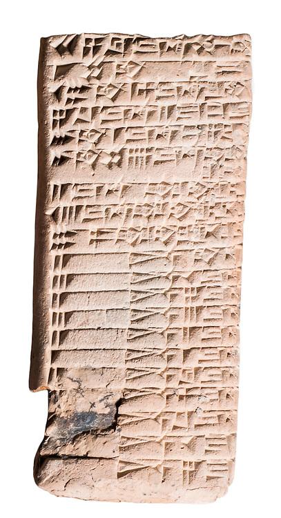 Cuneiform Clay Tablet 2nd millennium BC 12.8 x 5.8 cm