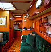 Peterson, 44ft, Sailboat, teak, wood, interior, dining area, couch,  Travel, Vacation, Ship, Boat, Balance upscale yacht Please notify me for larger file size