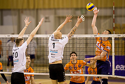 Dmitrij Babkov of ACH Volley during 1st Leg volleyball match between ACH Volley and OK Calcit Volley in Final of 1. DOL Slovenian National Championship 2017/18, on April 17, 2018 in Hala Tivoli, Ljubljana, Slovenia. Photo by Urban Urbanc / Sportida