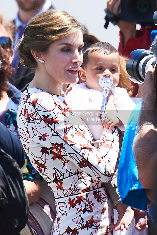 Queen Letizia of Spain Visit the headquarters of the Oceanic Platform of the Canary Islands (PLOCAN) April 24, 2017 in Telde, Spain.