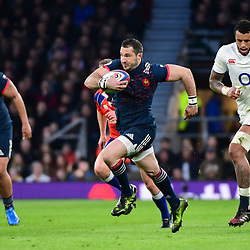 Scott Spedding of France on the charge during the RBS Six Nations match between England and France at Twickenham Stadium on February 4, 2017 in London, United Kingdom. (Photo by Dave Winter/Icon Sport)