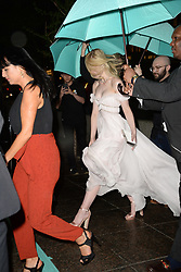 May 3, 2018 - New York, NY, USA - May 3, 2018  New York City..Elle Fanning attending Tiffany & Co. 'Paper Flowers' jewelry collection launch on May 3, 2018 in New York City. (Credit Image: © Kristin Callahan/Ace Pictures via ZUMA Press)
