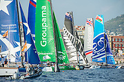 Race start,  Day three of the Extreme Sailing Series Regatta at Nice. 4/10/2014