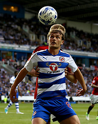 John Swift of Reading watches the ball - Mandatory by-line: Robbie Stephenson/JMP - 16/05/2017 - FOOTBALL - Madejski Stadium - Reading, England - Reading v Fulham - Sky Bet Championship Play-off Semi-Final 2nd Leg