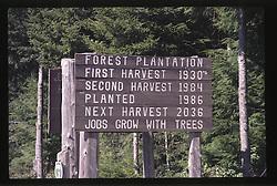 Logging Sign, Forks, Olympic Peninsula, Washington, US